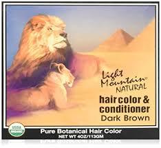 light mountain natural hair color black buy light mountain hair color and conditioner dark brown 113g