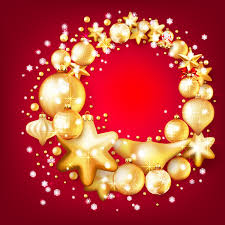 gold baubles with background vector 06 vector