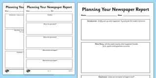 news report template newspaper report planning templates newspaper report writing a