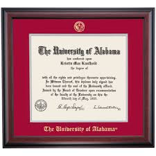 of alabama diploma frame alabama school color traditional for degree diploma frame the