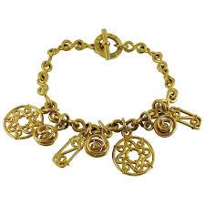 charm necklace vintage images Celine vintage gold toned charm necklace for sale at 1stdibs jpg