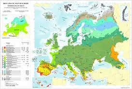 Maps Of Europe by Bioclimatic U0026 Biogeographic Maps