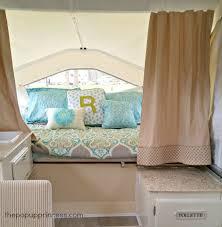 First Up Wind Curtain Brenda U0027s Pop Up Camper Makeover The Pop Up Princess