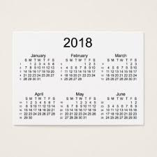 calendar business cards templates zazzle