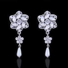 wedding accessories pearl drop earrings vintage pearl bridal earrings wedding