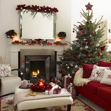 interior great decorating ideas using triangle green christmas