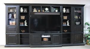 Distressed Black Bookcase Distressed Black Entertainment Wall W Display Piers Sam Levitz