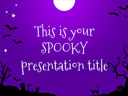 halloween background with purple playful google slides themes and powerpoint templates for free