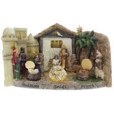 nativity set with three gifts the catholic company