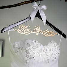 wedding dress hanger bridesmaid gift personalized wedding hanger wooden bridal hanger