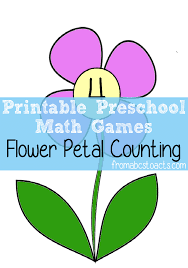 preschool math games flower petal counting from abcs to acts