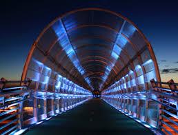 Artistic Lighting Best Small Project Pedestrian Bridge Doubles As Artistic Lighting