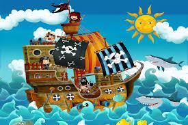 cartoon pirate ship wall mural muralswallpaper co uk