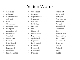 Strong Words For Cover Letter strong verbs for resume pertamini co