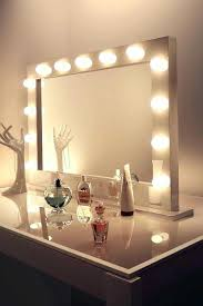 Stunning Vanity Makeup Mirror With Light Bulbs Trends Also Diy Led