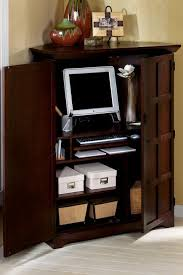 Computer Armoire Enchanting Small Corner Computer Armoire 67 On Modern House With