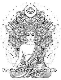 Hindu Lotus Temple Adult Coloring Pages Tattoos Pinterest Buddhist Coloring Pages