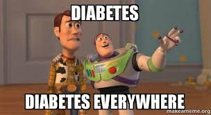 Meme Diabetes - diabetes diabetes everywhere buzz and woody toy story meme