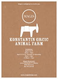 Showroom Invitation Card Animal Farm Cocktail Party Magis