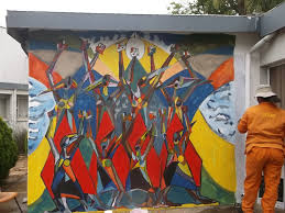 africa alberto cerritos the event that was organized primarily by the south african muralist andrew nhlangwini allowed me to express through my mural the history of protest and
