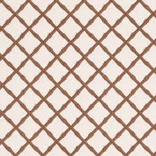 bamboo trellis in brown on white nicholas haslam ltd