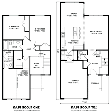 Duplex Blueprints by House Plans Two Story Contemporarytwo Floor Picture Duplex India