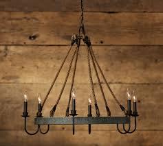 napa wine barrel chandelier pottery barn barn house