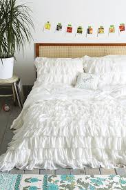 Urban Outfitters Waterfall Ruffle Curtain by Waterfall Ruffle Duvet Cover Ruffle Duvet White Queen And Duvet
