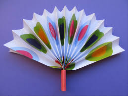 paper fan how to make a simple paper fan children s crafts
