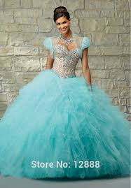 blue quinceanera dresses short sleeve jacket organza red organza