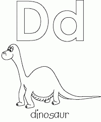 dinosaur alphabet coloring pages letter d is for dinosaur coloring