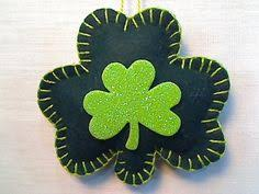 embroidered st s day felt shamrock by jwgcreations st