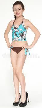 preteen girl modeling pretty teen girl modeling a swimsuit stock photo image of studio