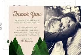wedding thank you postcards wedding thank you cards