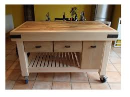 kitchen island on wheels empire work center u2013 butcher block