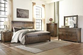 ashley lakeleigh brown 4 piece king panel bedroom set