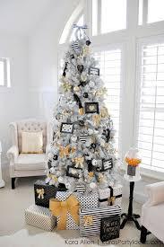 White Bows For Tree Stunning Slim Tree Decorating Ideas