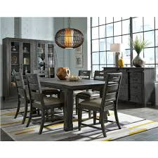 magnussen u0027s abington wood dining table in weathered charcoal by