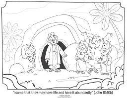 ten sick men coloring page jesus heals the source