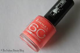 rimmel london 60 seconds nail color instyle coral the indian