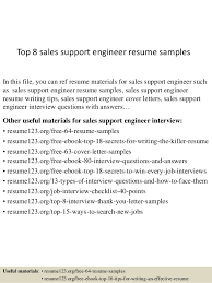 It Support Engineer Resume Sample by Top 8 Sales Support Engineer Resume Samples 1 638 Jpg Cb U003d1431415629
