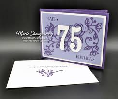 stamping inspiration mom u0027s flourishing 75th birthday card