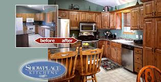 cabinets showplace kitchens cabinet refacing gives a quicker
