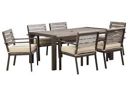 signature design by ashley peachstone outdoor dining table set
