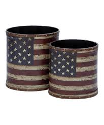 distressed canvas american flag canister set canister sets