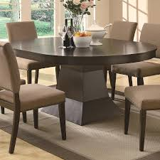 Round Pedestal Dining Table With Extension Leaf Amazon Com Myrtle Dining Oval Table W Extension In Coffee Brown