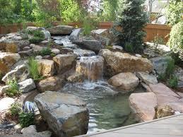 backyard rock water features backyard and yard design for village