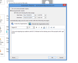 use outlook u0027s auto reply features to free your vacation from email