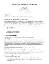 Objective Resume Examples Customer Service Examples Of A Customer Service Resume Resume Example And Free