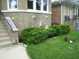 a colorful landscape design idea for sidewalk planting landscaping